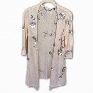 Knitted & Knotted Sequin Cardigan, S